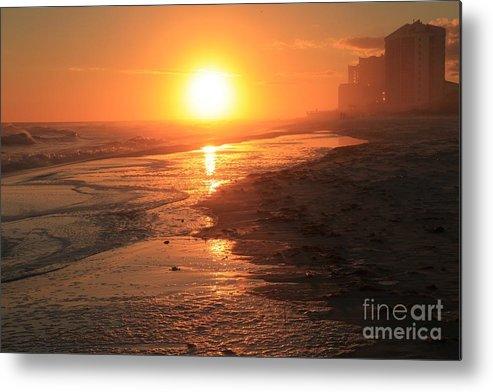 Gulf Islands National Seashore Metal Print featuring the photograph Perdido Key Sunburst by Adam Jewell