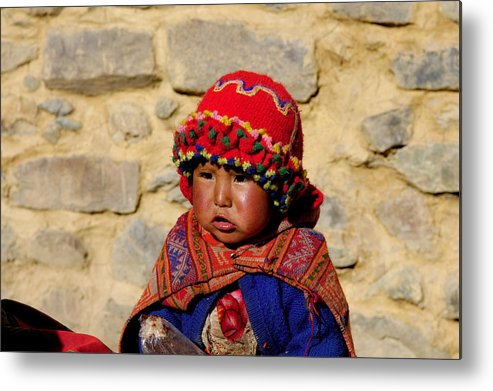 Baby Peruvian Peru Metal Print featuring the photograph Peru Baby by Noel Lopez