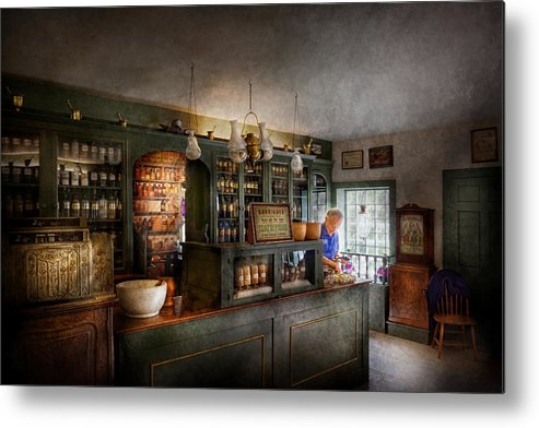Doctor Metal Print featuring the photograph Pharmacy - Morning Preparations by Mike Savad