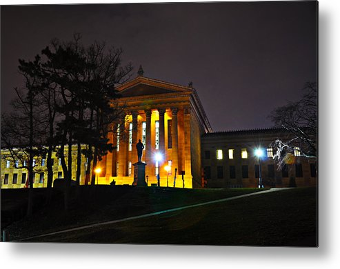Philadelphia Metal Print featuring the photograph Philadelphia Art Museum At Night From The Rear by Bill Cannon