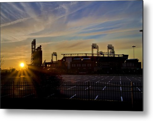 Phillies Metal Print featuring the photograph Phillies Citizens Bank Park At Dawn by Bill Cannon