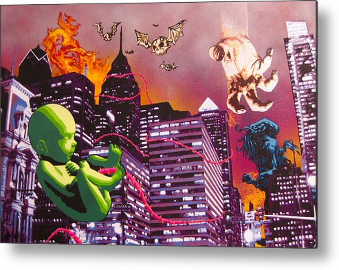 Philly Metal Print featuring the painting Philly Rapture by Bobby Zeik