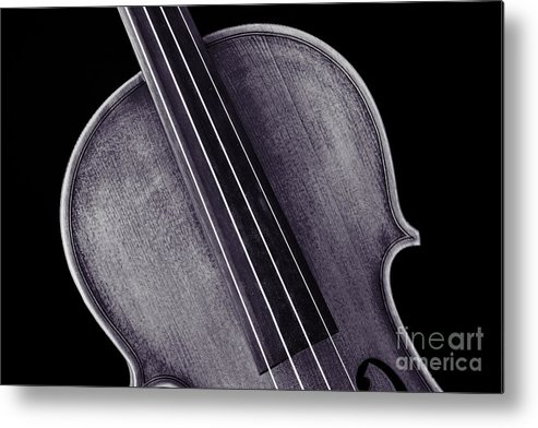 Violin Metal Print featuring the photograph Photograph Of A Upper Body Viola Violin In Sepia 3369.01 by M K Miller