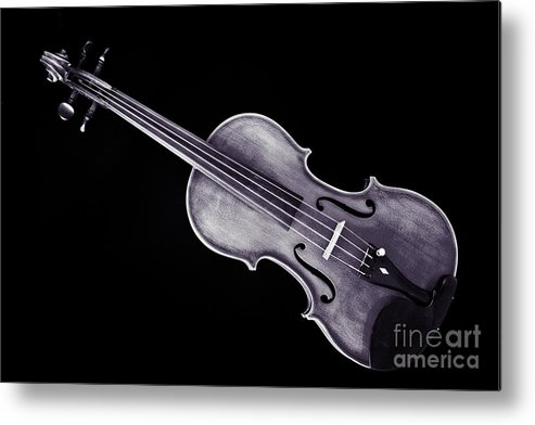 Violin Metal Print featuring the photograph Photograph Of A Viola Violin Antique In Sepia 3376.01 by M K Miller