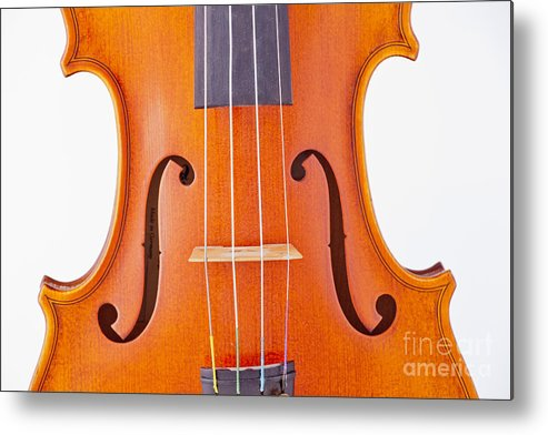 Violin Metal Print featuring the photograph Photograph Of A Viola Violin Middle In Color 3374.02 by M K Miller