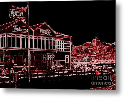 Pier 39 Metal Print featuring the photograph Pier 39 Red by Tracy Nelson