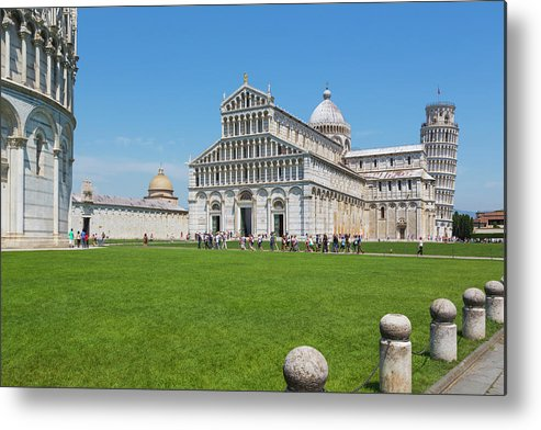 Belltower Metal Print featuring the photograph Pisa, Tuscany, Italy. Cathedral by Ken Welsh
