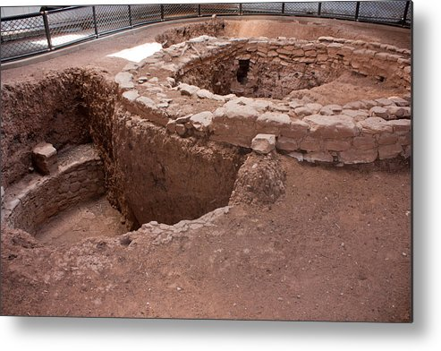 Mesa Metal Print featuring the photograph Pithouse And Kiva by Claus Siebenhaar
