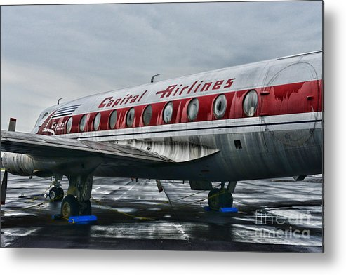 Paul Ward Metal Print featuring the photograph Plane Obsolete Capital Airlines by Paul Ward