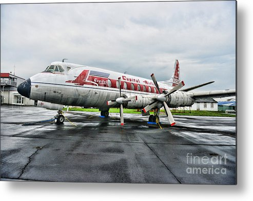 Paul Ward Metal Print featuring the photograph Plane Props On Capital Airlines by Paul Ward