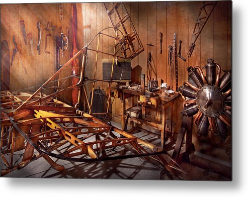 Savad Metal Print featuring the photograph Plane - The Dawn Of Aviation by Mike Savad