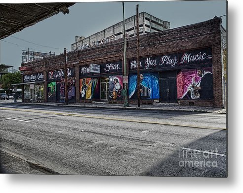 San Antonio Metal Print featuring the photograph Play Some Music by Erika Weber