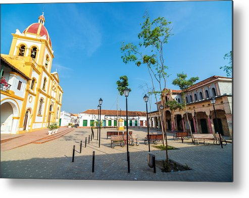 Mompos Metal Print featuring the photograph Plaza In Mompox by Jess Kraft