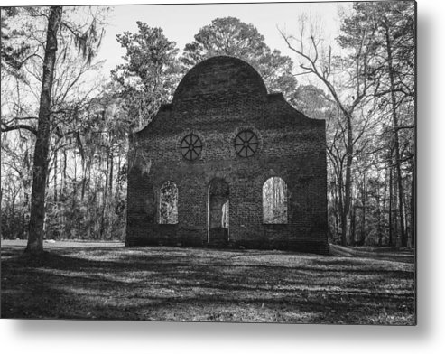 Pon Pon Metal Print featuring the photograph Pon Pon Chapel Of Ease 2 Bw by Steven Taylor