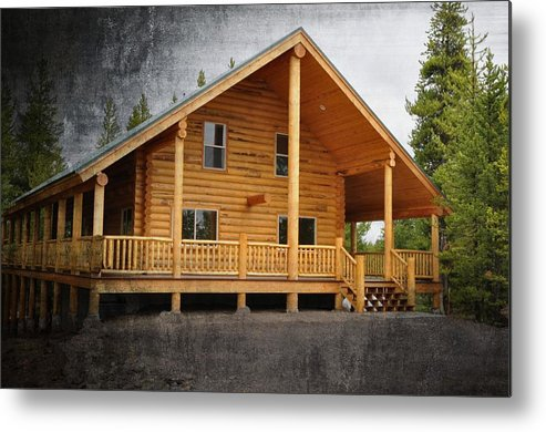 Island Park Metal Print featuring the photograph Pond's Cabin by Image Takers Photography LLC