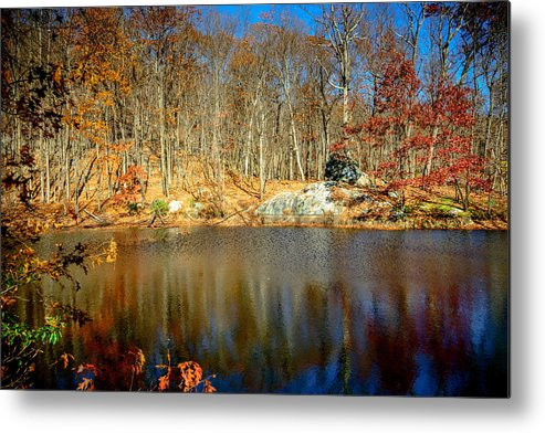 Deep Metal Print featuring the photograph Pool Hollow by Jim DeLillo