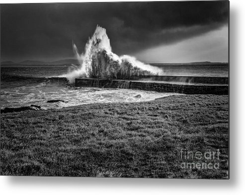 Weather Bomb Metal Print featuring the photograph Port Charlotte Wave by James Collett