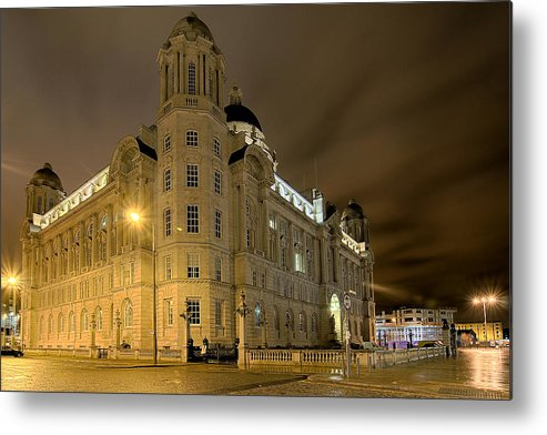 Port Of Liverpool Metal Print featuring the photograph Port Of Liverpool Building by Jeff Dalton