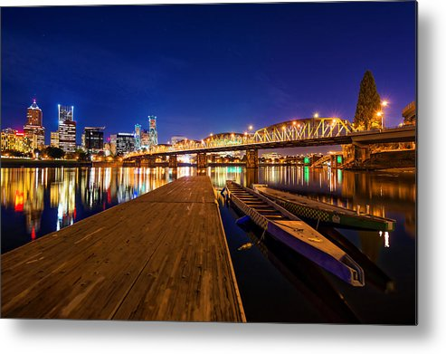 Portland Metal Print featuring the photograph Portland Under The Stars by Dustin LeFevre