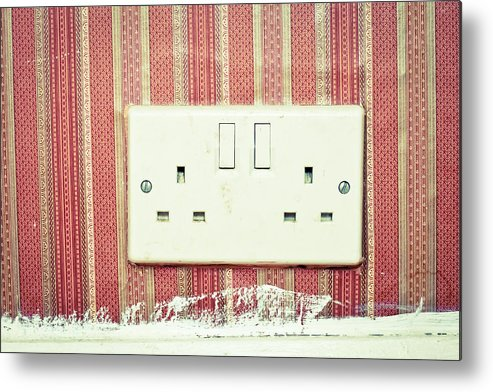 .electricity Metal Print featuring the photograph Power Socket by Tom Gowanlock