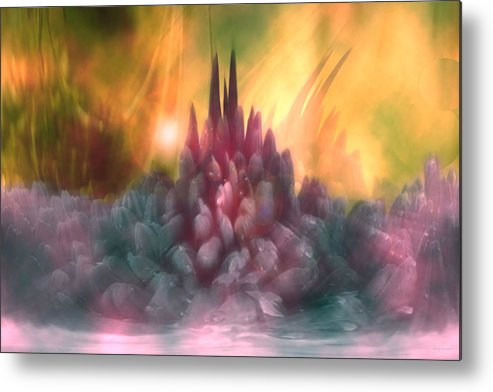 Abstract Metal Print featuring the digital art Psychedelic Tendencies  by Linda Sannuti