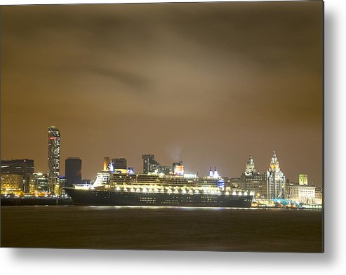 Ship Metal Print featuring the photograph Queen Mary 2 by Jeff Dalton