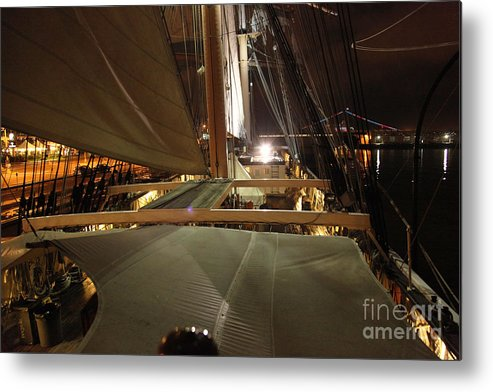 Tall Ships Metal Print featuring the photograph Quiet Night On The Star by Fiona Young