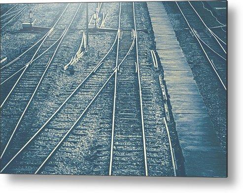 Railroad Metal Print featuring the photograph Railroad by Weerapat Wattanapichayakul