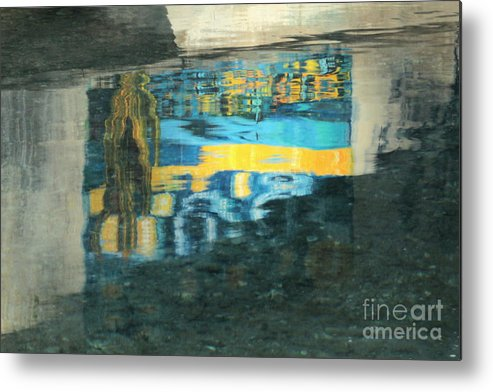 Water Reflection Print Metal Print featuring the photograph Color On Water by Joe Jake Pratt