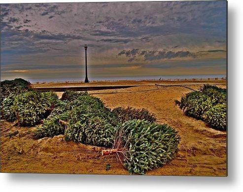 Landscape Metal Print featuring the photograph Rebuilding The Dunes by Joe Burns