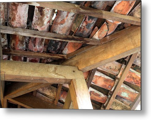 Metal Print featuring the photograph Red Clay Tiles by Stephen Dennstedt
