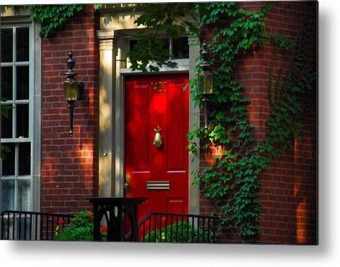 Door Metal Print featuring the photograph Red Door In Chicago by Lynn Bauer