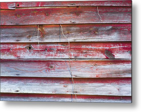 Red Metal Print featuring the photograph Red Mold Siding by Ben and Rachel Melton