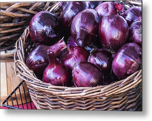 Red Onion Metal Print featuring the photograph Red Onion by Vishwanath Bhat