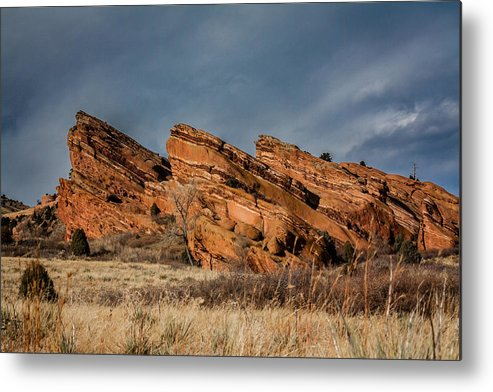 Colorado Metal Print featuring the photograph Red Rocks Trio by Karen Saunders