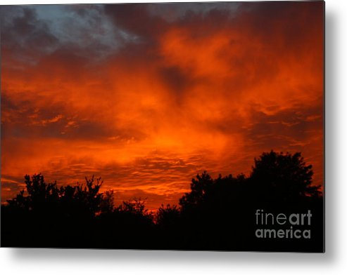 Red Sunset Metal Print featuring the photograph Red Sunset by Jeremy Hayden