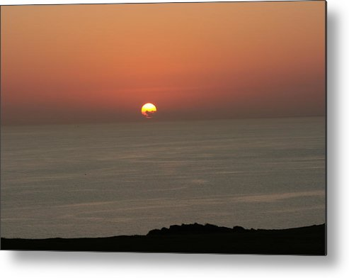Red Sunset Over Sea Metal Print featuring the photograph Red Sunset Over Sea by Gordon Auld