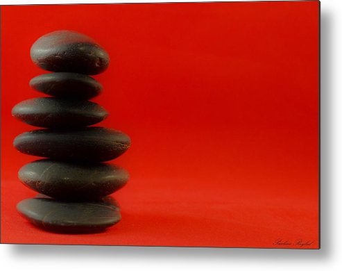Rocks Metal Print featuring the photograph Red Zen by Paulina Roybal