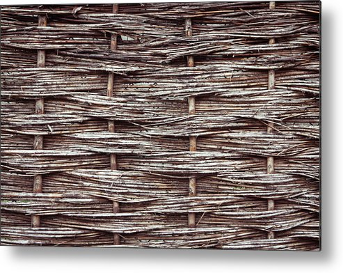 Architecture Metal Print featuring the photograph Reed Fence by Tom Gowanlock