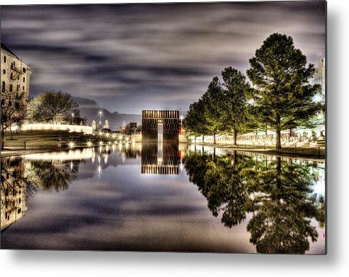 Okc Metal Print featuring the photograph Reflecting by Tom Parash