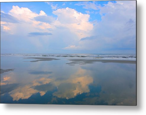 Fishing Pier Metal Print featuring the photograph Reflections by Don Mennig