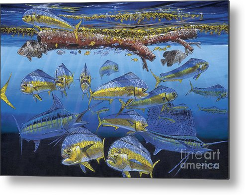Fish Metal Print featuring the painting Refuge Off00110 by Carey Chen