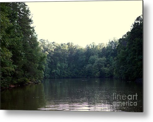 Relaxing Metal Print featuring the photograph Relaxing Lake Landscape by Kim Fearheiley