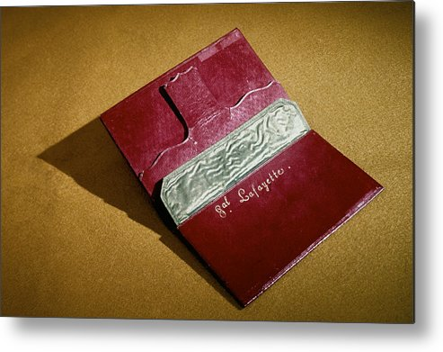 18th Century Metal Print featuring the photograph Rev War: Wallet by Granger