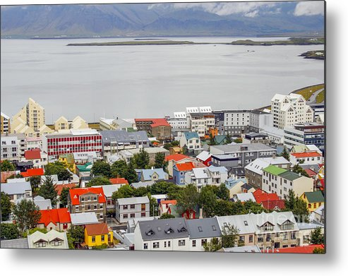 Bay Metal Print featuring the photograph Reykjavik On The Water by Patricia Hofmeester
