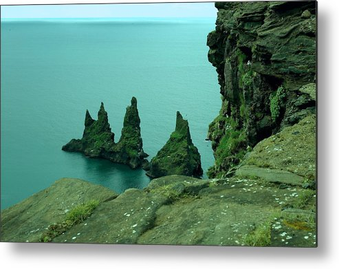 Landscape Metal Print featuring the photograph Reynisdrangar by Rune Valtersson