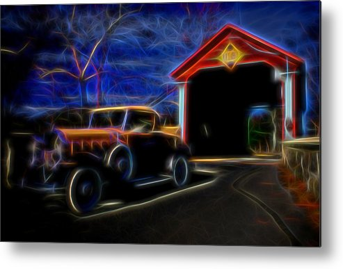 Car Metal Print featuring the photograph Ride From The Past by Michael Biggs