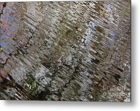 Nature Abstract Metal Print featuring the photograph Ripples In The Swamp by Carol Groenen