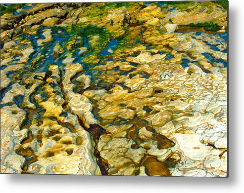 Abstract Nature Metal Print featuring the photograph Ripples In Time by Artist and Photographer Laura Wrede
