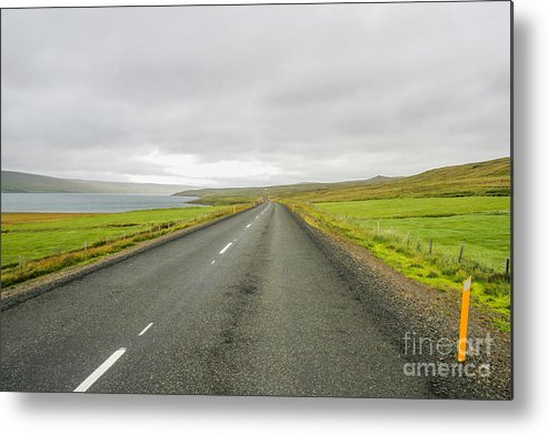 Asphalt Metal Print featuring the photograph Road In Iceland by Patricia Hofmeester